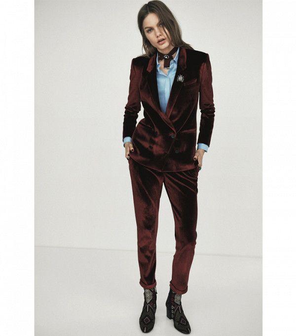 Topshop Tailored Velvet Blazer £75