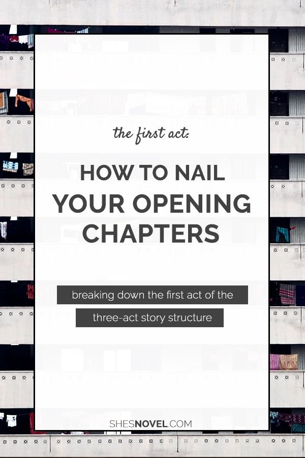 Struggling to perfect your novel's opening chapters? Kristen from She's Novel breaks down the first act!