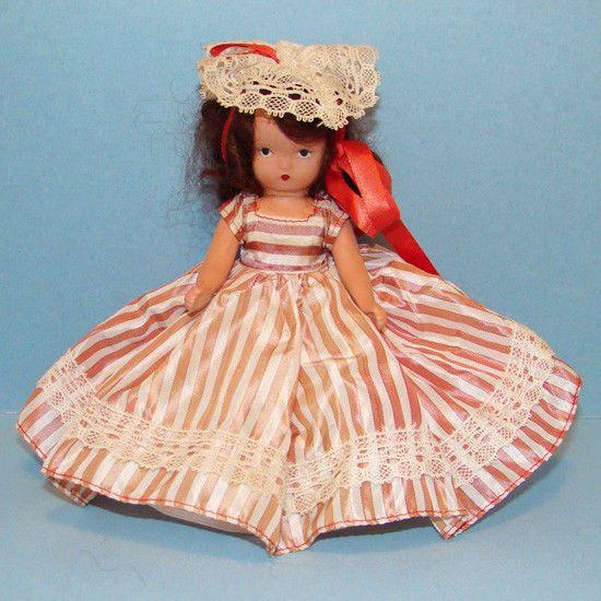 Nancy Ann Storybook Doll 122 Alice Sweet Alice Jointed Plastic #NancyAnn