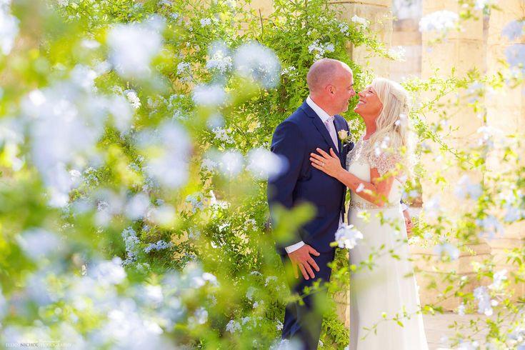 Newlyweds in the gardens of the Villa Bologna, Attard,malta