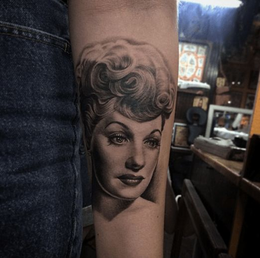 28 best tattoos images on pinterest lucille ball portrait tattoos and tattoo ideas. Black Bedroom Furniture Sets. Home Design Ideas