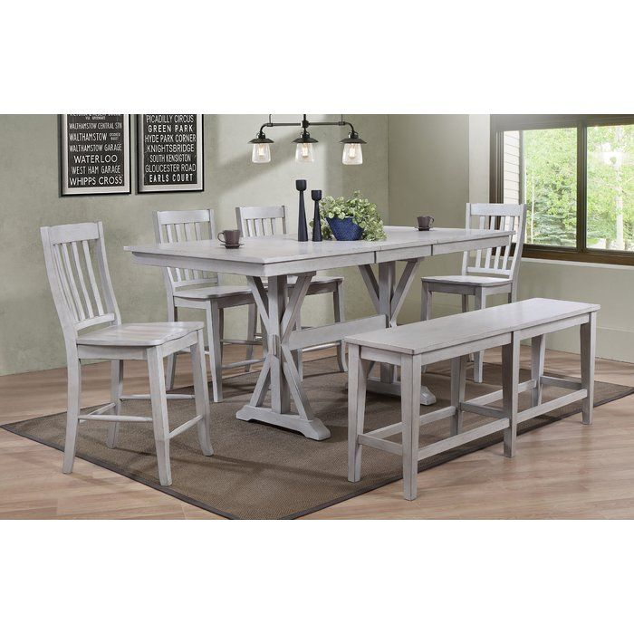 Clennell 6 Piece Pub Table Set Pub Table Sets Pub Table Wood Dining Table