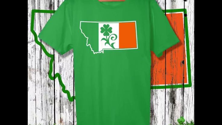 Montana, get your green on for Saint Patrick's Day with Kelly green colored, Montana Shamrock T-shirts, including 'Montana Shamrock', 'Montana Irish', 'Kiss Me I'm Montanan', and 'Butte, Montana Shamrock'. Shop montana-treasures.com today!