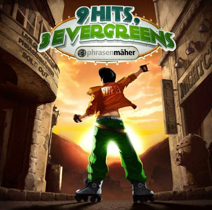 album cover art [01/2014]: phrasenmäher ¦ 9 hits, 3 evergreens |