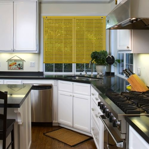 A Mustard Matt Yellow Venetian Blind, Available In A 25mm Slat Width.  Bathroom BlindsKitchen ...