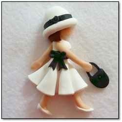 This would make a great cookie topper!  Make out of fondant and attach to cookie top!  Love the idea!
