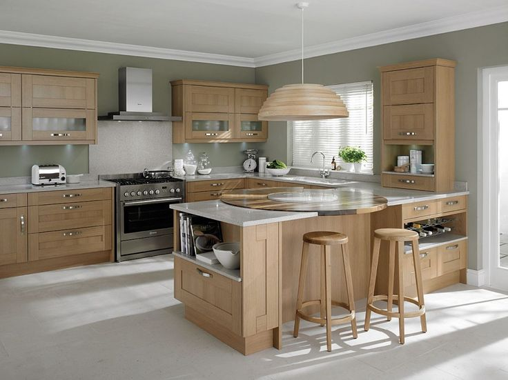 Modern Light Wood Kitchen Cabinets awesome light oak wooden kitchen designs : light oak wooden