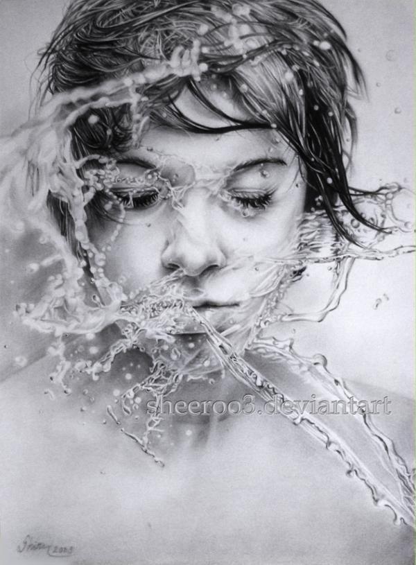 Pencil Drawings by Sheeroo3 | A6. El Rostro en el arte | Pinterest | Drawings, Water and Pencil art