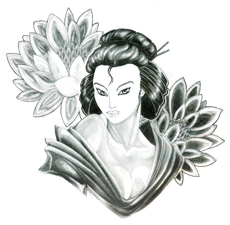 Geisha Tattoo Designs Design By SpiderLAW