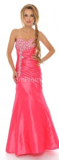 2013 Gorgeous A-Line Sweetheart Floor-Length Crystal Floral Pin Homecoming Dresses