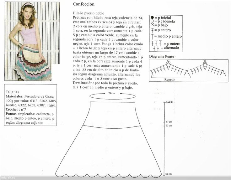 Mejores 89 imágenes de Saia en Pinterest | Faldas de ganchillo ...