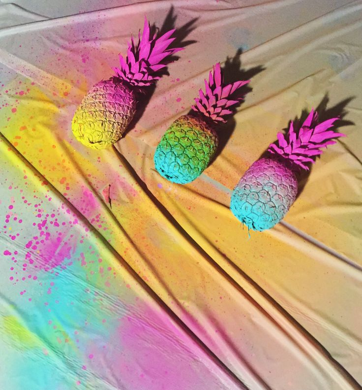 We love our DIY Neon Pineapples!