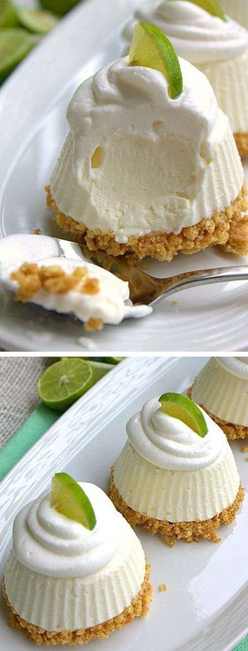 Frozen Key Lime Pie - easy no-bake recipe that you can make ahead of time - via This Silly Girl's Life