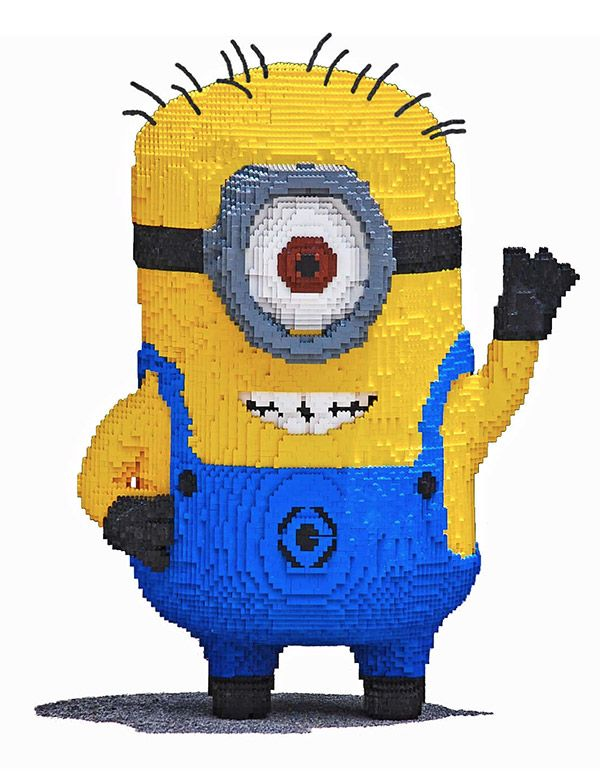 Look at this amazing Minion lego sculpture by teen Lego artist, Evan! http://nerdapproved.com/toys/teen-builds-240000-brick-lego-minion-without-assistance-from-any-actual-minions/
