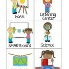 Use these center signs to label your pre-k/kindergarten centers! I used the smaller signs for my play choice chart and the bigger signs are used to...