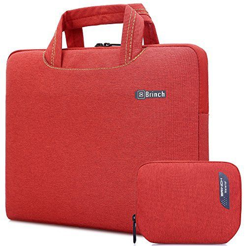 New Trending Briefcases amp; Laptop Bags: BRINCH® [Red] Deluxe Universal Fabric Portable thin Light Durable Waterproof Anti-tear 13 - 13.3 inch Laptop Pouch Sleeve Case Bag / Carrying Handbag Briefcase / Laptop Messenger Bag, Utra Protective with Soft White Foam for All 13 - 13.3 inch Tablet / Ultrabook / Notebook Laptop Computers(Apple Macbook / Chromebook / Acer / Asus / Dell / Fujitsu / Lenovo / HP / Samsung / Sony / Toshiba),Fashion Design of Front Pocket,Two Back P