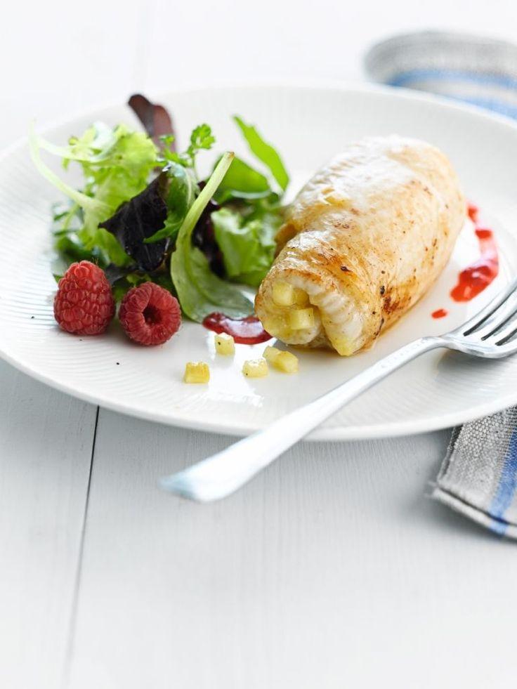 """Het lekkerste recept voor """"Rog gevuld met appel in frambozenvinaigrette"""" vind je bij njam! Ontdek nu meer dan duizenden smakelijke njam!-recepten voor alledaags kookplezier!"""