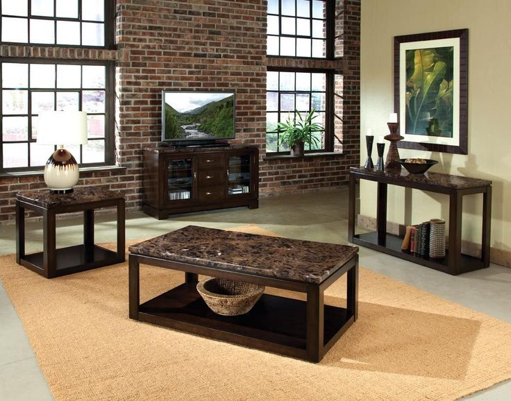 Bella Warm Chocolate Cherry Coffee Table Set