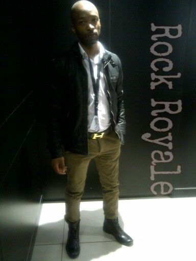 Leather jacket from Guess, winter chinos from carvela concept store, hemis belt, boots from aldo #Rock Royale