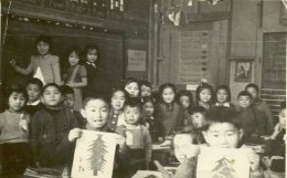 After the Japanese Canadians were interned in 1942, many of their rights were denied. However in Lemon Creek B.C. they fought for their right to education, and were permitted to teach the children until grade 10. This picture depicts the school.