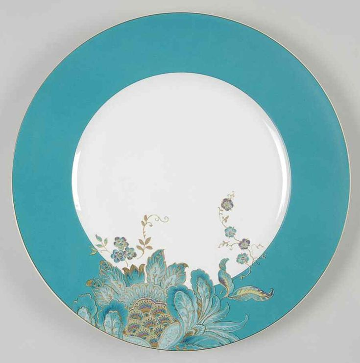 Eliza Teal Dinner Plate by 222 Fifth (PTS)