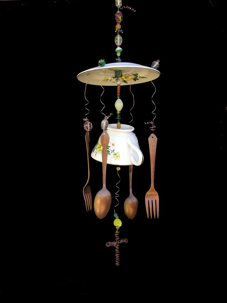 Tea Chime Yellow Floral   by rustiqueart