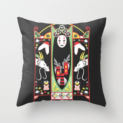 Spirited Deco Throw Pillow