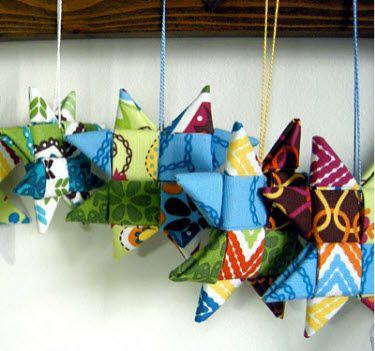 25 unique Folded fabric ornaments ideas on Pinterest  Fabric