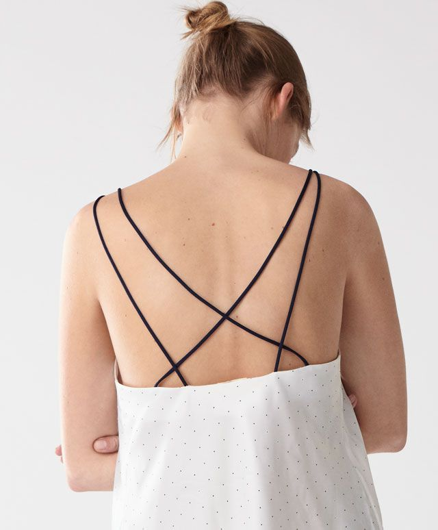 Sateen T-shirt - New In Spring Summer 2017 trends in women fashion at Oysho online. Find lingerie, pyjamas, slippers, nighties, gowns, fluffy, maternity, sportswear, shoes, accessories, body shapers, beachwear and swimsuits & bikinis.