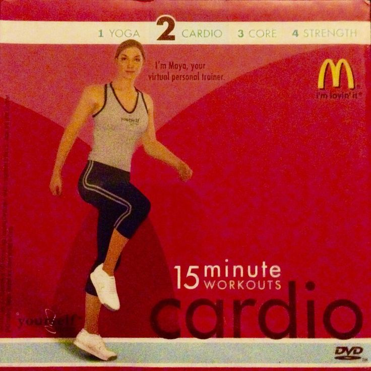 McDonald's 15 Minute Workouts Cardio DVD. Option to watch in English or Spanish. Relax and browse a bit! Produced by Yourself Fit. | eBay!