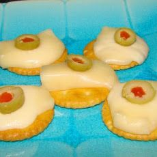 Ritz biscuits ...primula cheese proper 80's buffet food;)