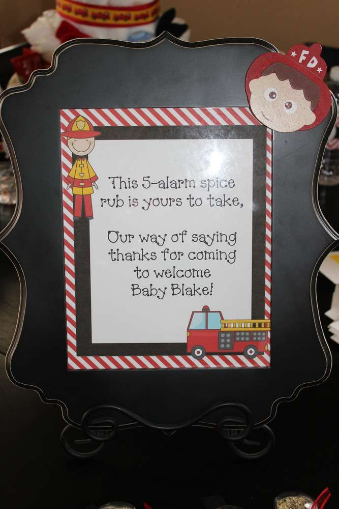 Firefighter Baby Shower Party Ideas
