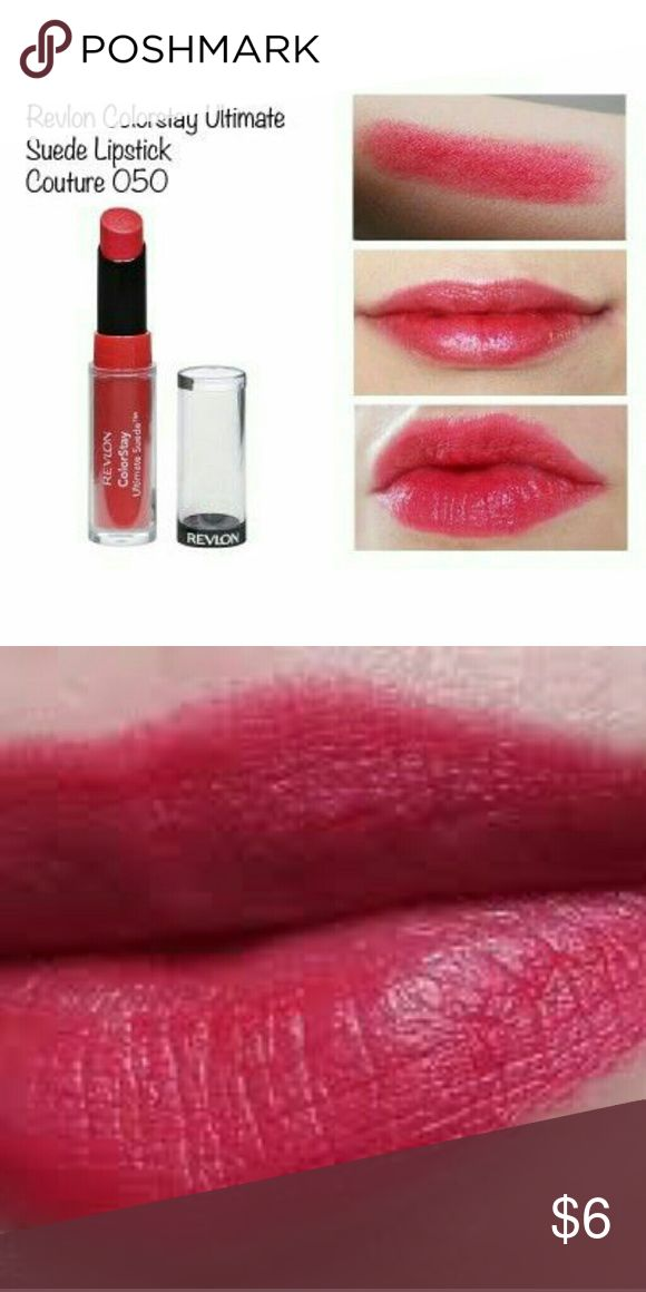 ColorStay Ultimate Suede Nwt Product Description  The Revlon ColorStay Ultimate Suede Lipstick is a velvety soft formula that is food-proof and just won't quit. Made with shea butter, aloe, and vitamin E, it'll keep your lips soft and moisturized with all-day wear. Plenty of women have felt that their lips were creamy and comfortable while wearing. Revlon Makeup Lipstick