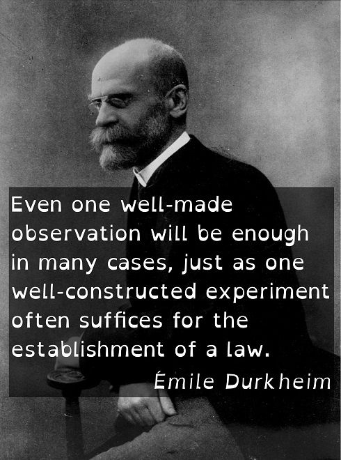 a look at emile durkheims writings on suicide Sociology chapter 1  suicide, used statistical data to look for correlations between demographic variables and suicide  the writings of emile durkheim,.