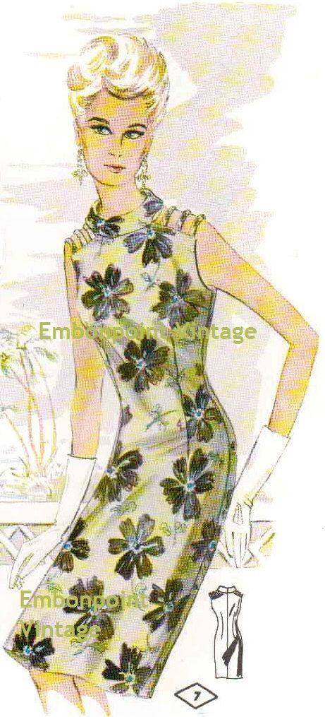 Plus Size (or any size) Vintage 1969 Womens Dress Pattern - PDF - Pattern No 7 April. $7.50, via Etsy.