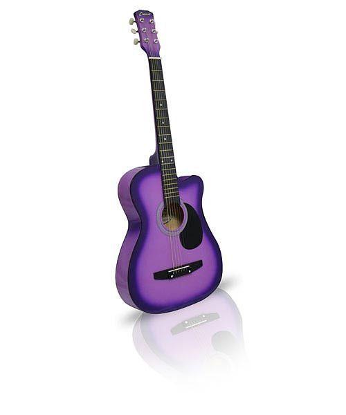 Purple Acoustic Guitar 38in Cutaway | Cutaway, Acoustic ...