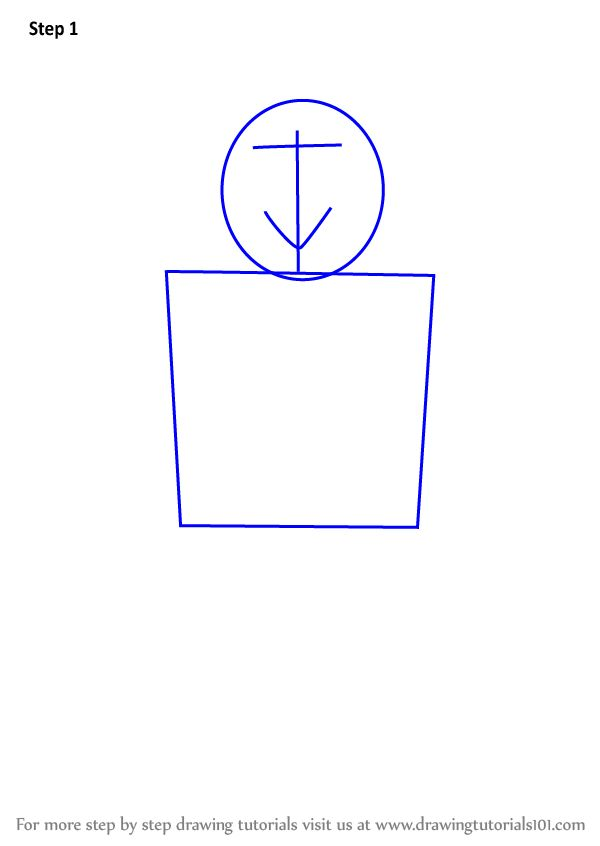 Learn How To Draw Noob From Roblox Roblox Step By Step Drawing