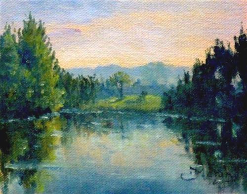 """Hawkesbury River, Sydney- Arthur Streeton and I."" - Original Fine Art for Sale - © Fred Marsh"