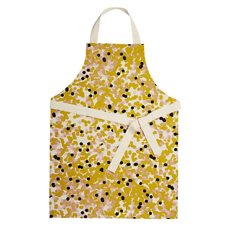 TINKER BY PRINTINK STUDIO – 'Confetti' apron in mustard, hand screen printed with non-toxic inks on 100% cotton. www.printinkstudio.com (Sydney and Melbourne). THE BIG DESIGN MARKET Sydney: 25–27 Nov, Royal Hall of Industries Melbourne: 2–4 Dec, Royal Exhibition Building $2 entry/kids free www.thebigdesignmarket.com
