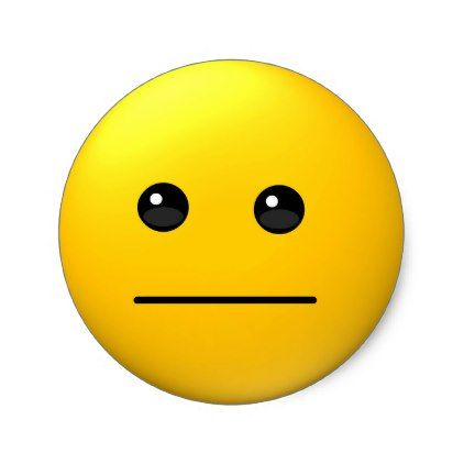Neutral expression funny emoji sticker | Zazzle.com in ...
