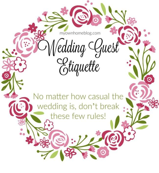 Wedding Guest Makeup Etiquette : 25+ best ideas about Wedding guest etiquette on Pinterest ...