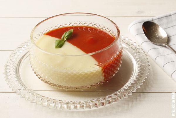 Recept Dubbel Feest Soep - aardappel/kaas en paprika/tomaat - Moodkids