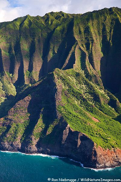 ✮ Aerial of the dramatic Na Pali Coast, Kauai, Hawaii