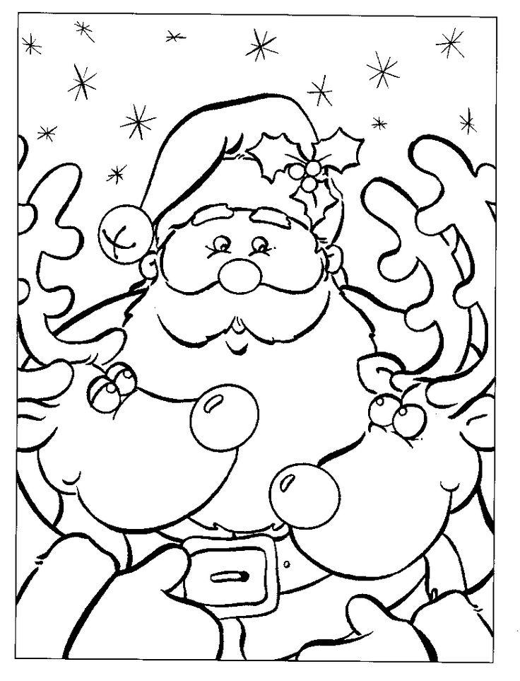 Kleurplaat: Kerstman kleurplaat