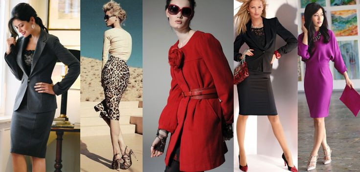PENCIL IT IN Pencil skirts seem so frumpy, but I appreciate that they are the perfect work item. Do you have any ideas on how to wear them and still look stylish and fashionable?