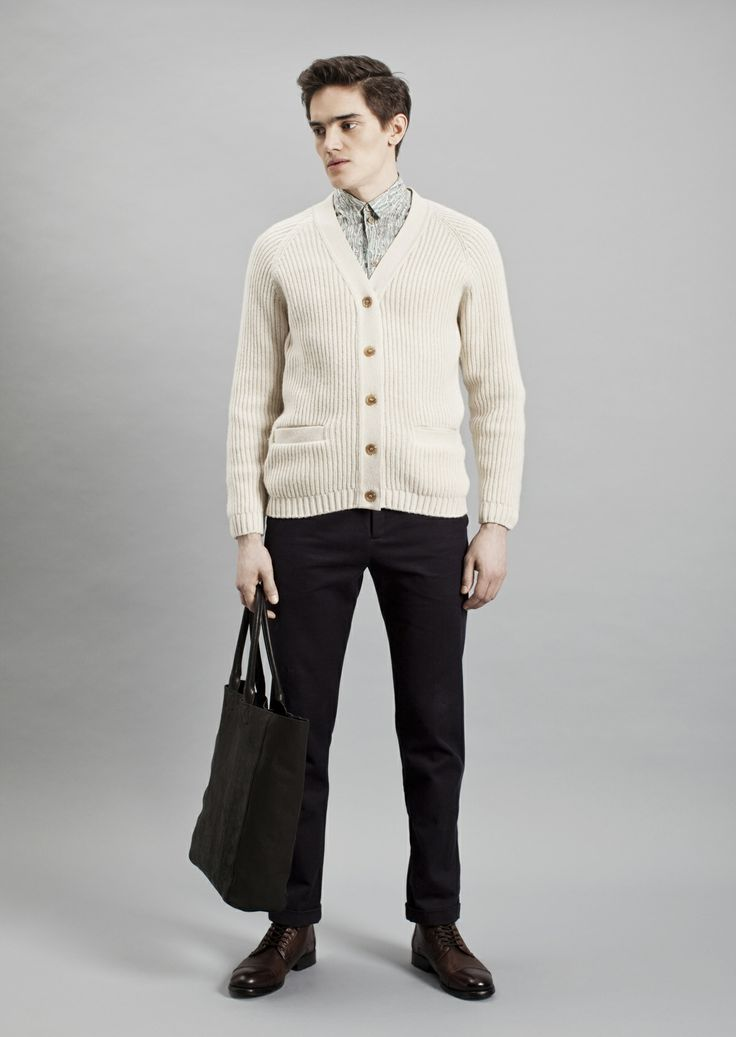 Tela Shirt, Rib Cardigan and Dalek Trousers | Samuji Men Fall Winter 2014 Collection