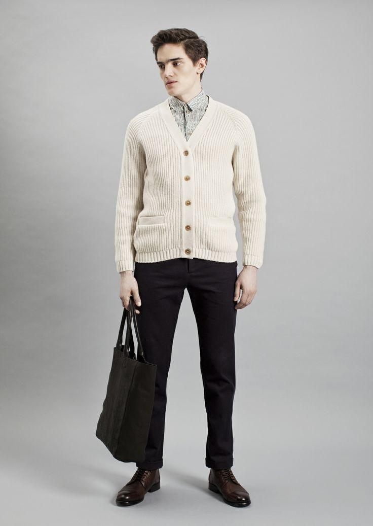 Tela Shirt, Rib Cardigan and Dalek Trousers | Samuji Men Fall Winter 2014 Collection