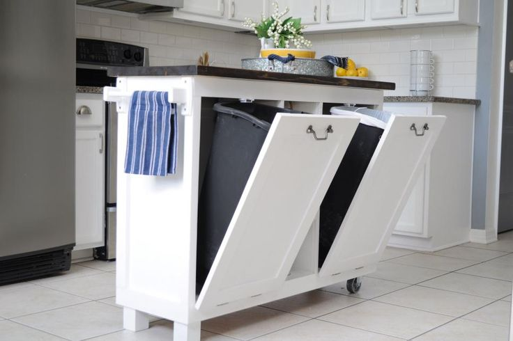 Best 25+ Hide Trash Cans Ideas On Pinterest