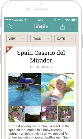 Lifetile - Private Online Diary, Share Your Memories via Virtual Memory Box