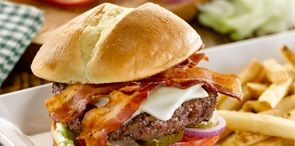 How about a tasty bite of Better Cheddar Bacon Burger, another delicious American O'riginal from O'Charley's.